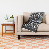 Wanderlust Hand Lettered Ultra-Soft Throw Blanket