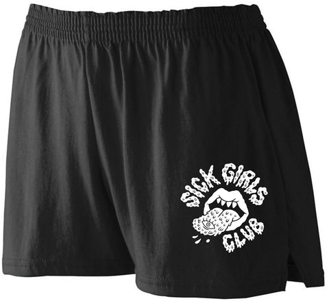 Sick Girls Club Shorts Black