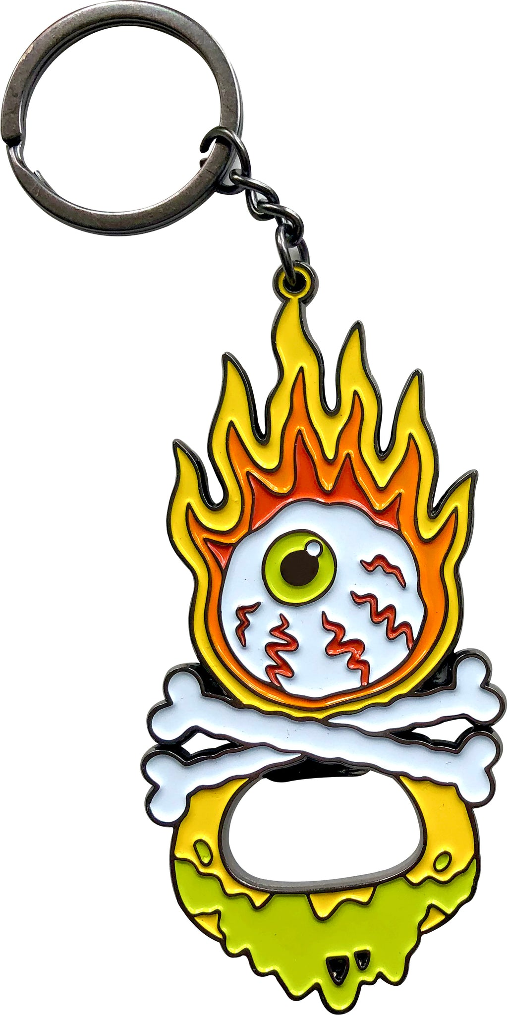 Flaming Eyeball Bottle Opener