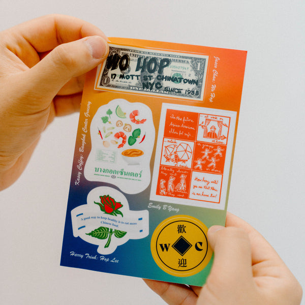Welcome to Chinatown Spring Collection Sticker Sheet