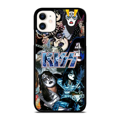 ACE FREHLEY KISS BAND COLLAGE-iphone-11-case-cover