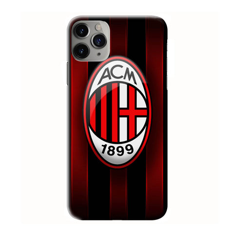 AC MILAN LOGO iPhone 6/6S 7 8 Plus X/XS XR 11 Pro Max 3D Case - Cool Custom Cover Personalized Design