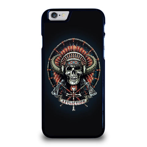 AFFLICTION INDIAN SKULL-iphone-6-6s-case-cover