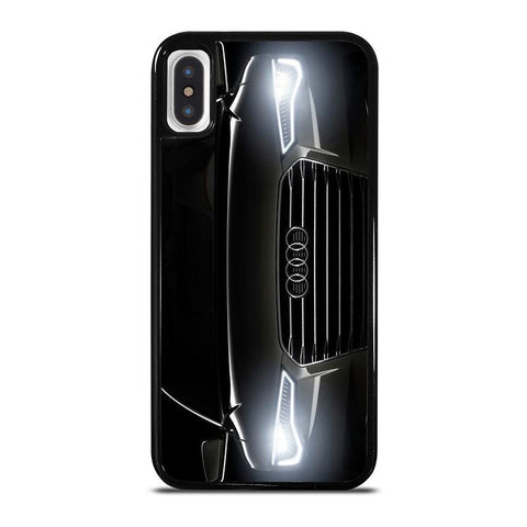 AUDI BLACK FRONT,-iphone-x-case-cover