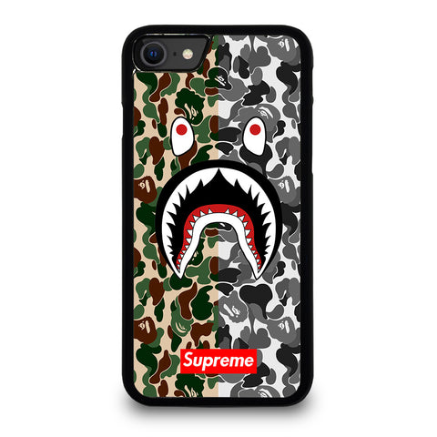 BAPE SHARK SUPREME CAMO 2 iPhone SE 2020 Case Cover