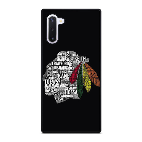 CHICAGO BLACKHAWKS NAMES Samsung Galaxy Note 10 Case Cover