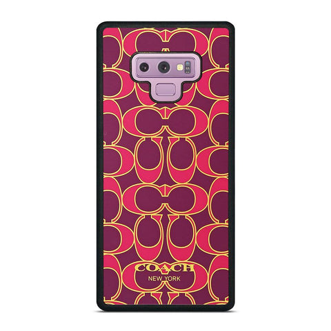 COACH NEW YORK PINK GOLD Samsung Galaxy Note 9 Case Cover