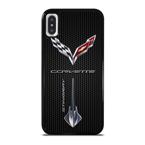 CORVETTE-STINGRAY-LOGO-iphone-x-case-cover