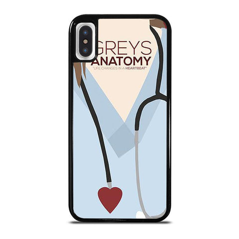GREY'S ANATOMY HEARTBEAT,-iphone-x-case-cover