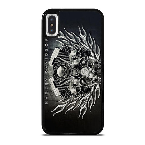 HARLEY-DAVIDSON-SKULL-ENGINE-iphone-x-case-cover
