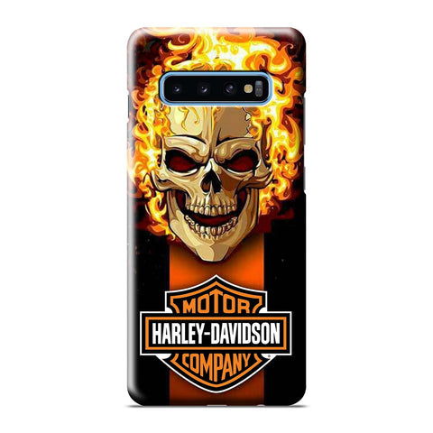 HARLEY DAVIDSON SKULL FIRE Samsung Galaxy S8 S9 S10 S10e S105G S20 Plus Ultra Note 8 9 10 10+ 3D Case Cover