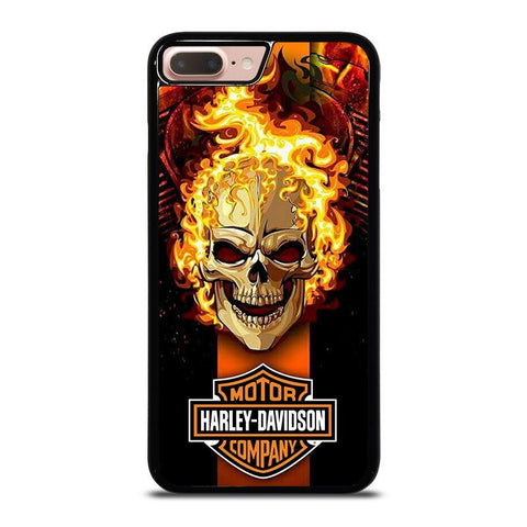 HARLEY DAVIDSON SKULL FIRE-iphone-8-plus-case-cover