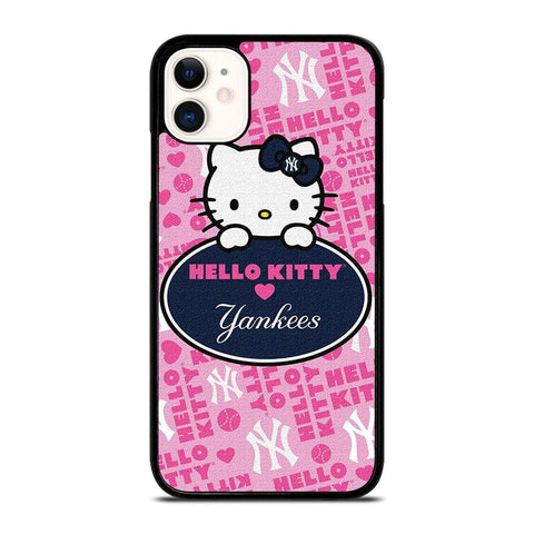 HELLO KITTY NEW YORK YANKEES-iphone-11-case-cover