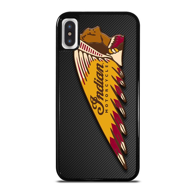 INDIAN MOTOR CYCLE CARBON LOGO,-iphone-x-case-cover