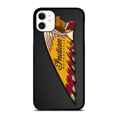 INDIAN MOTOR CYCLE CARBON LOGO-iphone-11-case-cover