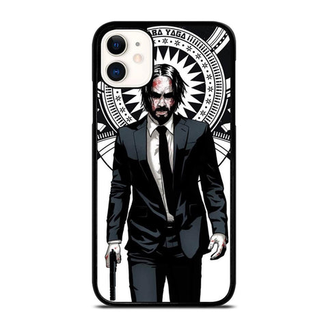 JOHN WICK ART-iphone-11-case-cover