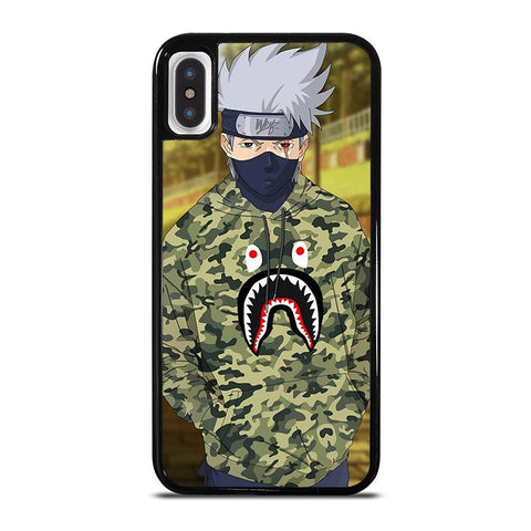 KAKASHI NARUTO BAPE SHARK iPhone X / XS Case - Best Custom Phone Cover Cool Personalized Design