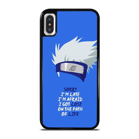 KAKASHI NARUTO QUOTE iPhone X / XS Case - Best Custom Phone Cover Cool Personalized Design