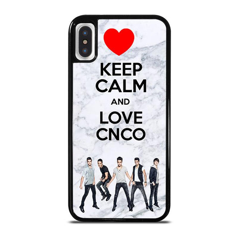 KEEP CALM AND LOVE CNCO MARBLE iPhone X / XS Case - Best Custom Phone Cover Cool Personalized Design