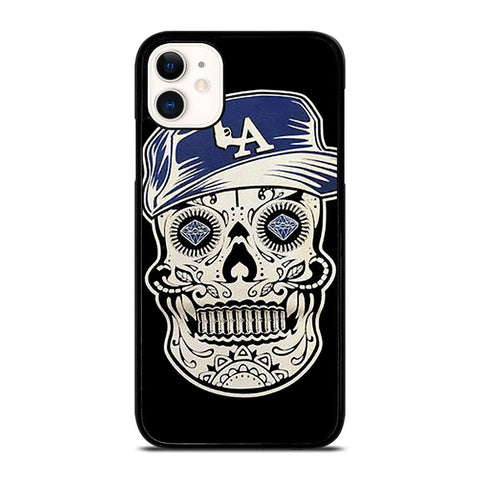 LA LOS ANGELES DODGERS SKULL-iphone-11-case-cover