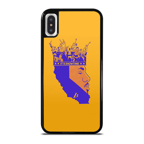 LEBRON JAMES LA LAKERS SHOW TIME iPhone X / XS Case Cover