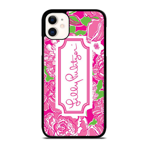 LILLY PULITZER PINK-iphone-11-case-cover