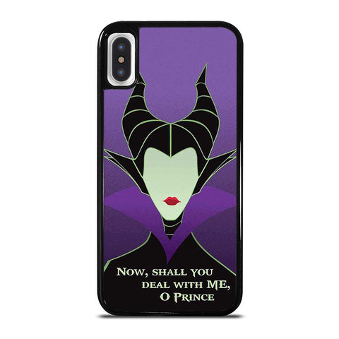 MALEFICENT SLEEPING BEAUTY QUOTE iPhone X / XS Case - Best Custom Phone Cover Cool Personalized Design