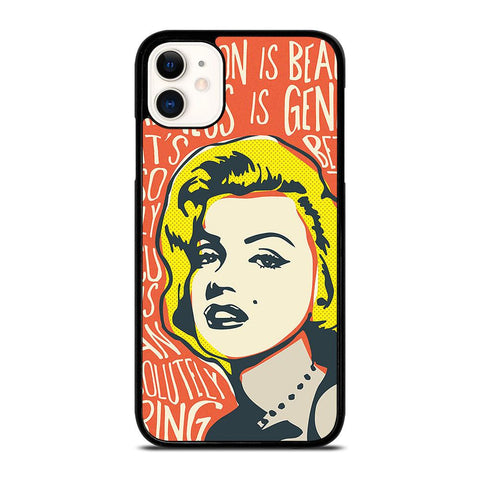 MARILYN MONROE ART QUOTE-iphone-11-case-cover