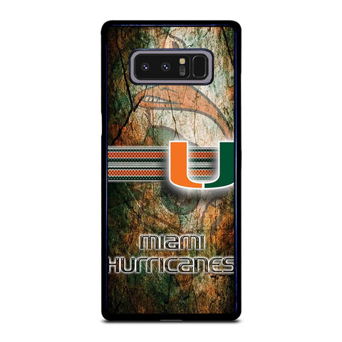 MIAMI HURRICANES LOGO NFL Samsung Galaxy Note 8 Case Cover