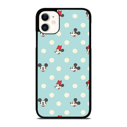 MICKEY AND MINNIE MOUSE DISNEY POLKADOTS-iphone-11-case-cover