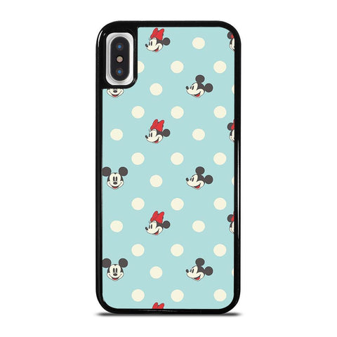 MICKEY AND MINNIE MOUSE DISNEY POLKADOTS-iphone-x-case-cover