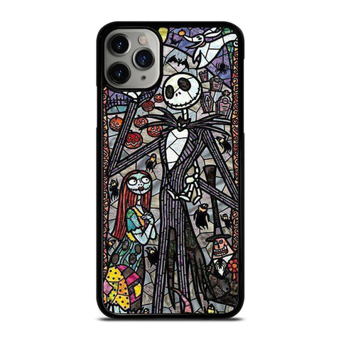 NIGHTMARE BEFORE CHRISTMAS ART GLASS-iphone-11-pro-max-case-cover