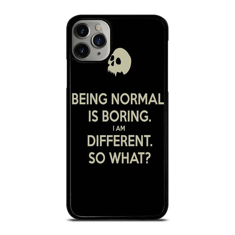 NORMAL IS BORING QUOTES-iphone-11-pro-max-case-cover