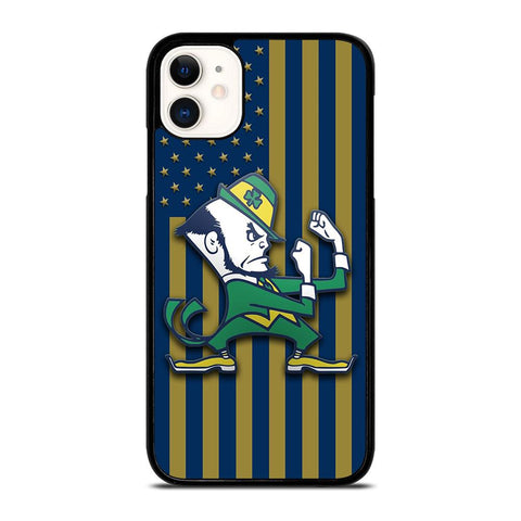 NOTRE DAME FIGHTING IRISH FLAG-iphone-11-case-cover
