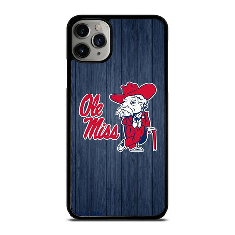 OLE MISS WOODEN LOGO-iphone-11-pro-max-case-cover