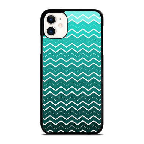 OMBRE TEAL CHEVRON-iphone-11-case-cover