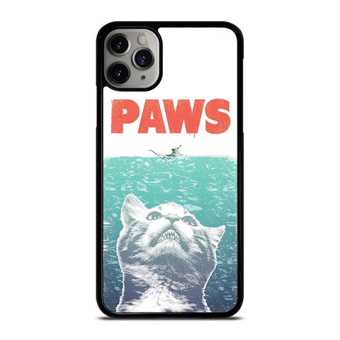 PAWS FUNNY JAWS CAT-iphone-11-pro-max-case-cover