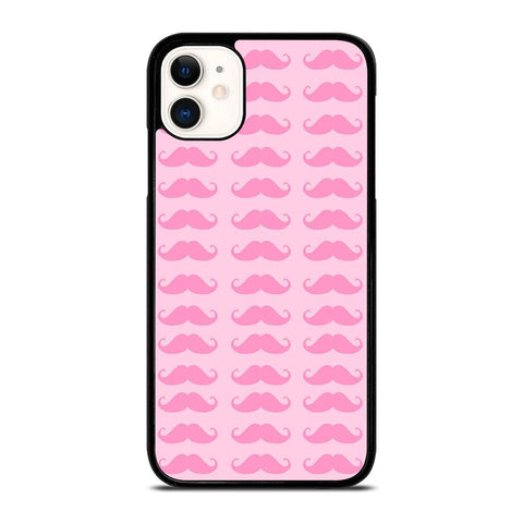 PINK MOUSTACHE-iphone-11-case-cover