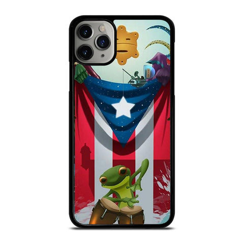 PUERTO RICO FROG FLAG-iphone-11-pro-max-case-cover