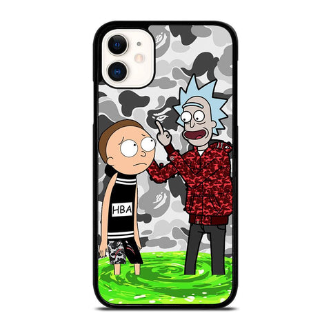 RICK AND MORTY RICK BAPE-iphone-11-case-cover