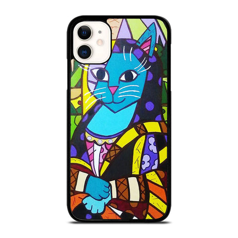ROMERO BRITTO MONALISA-iphone-11-case-cover