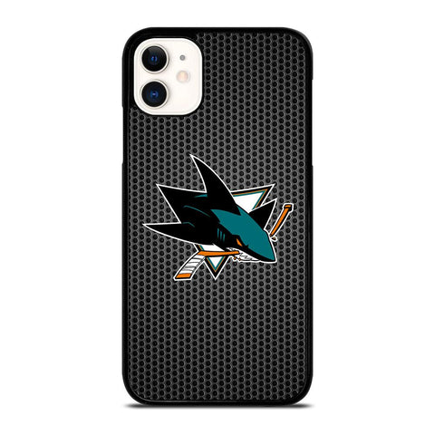 SAN JOSE SHARKS METAL-iphone-11-case-cover