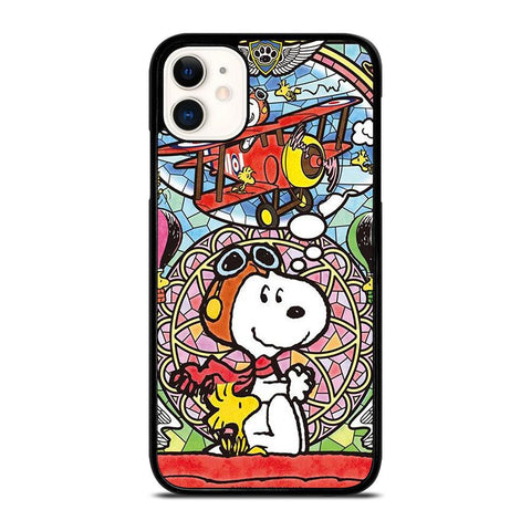 SNOOPY GLASS ART-iphone-11-case-cover
