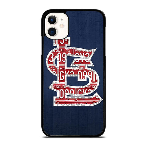ST. LOUIS CARDINALS BASEBALL WOODEN LOGO-iphone-11-case-cover
