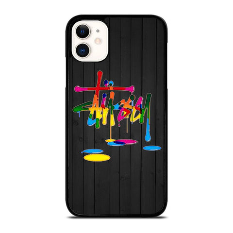 STUSSY PAINT LOGO-iphone-11-case-cover