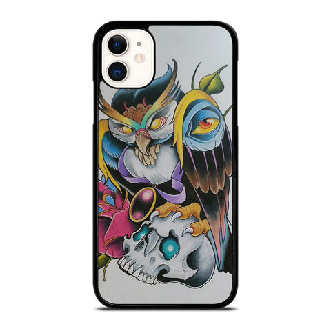 SUGAR SCHOOL OWL TATTOO-iphone-11-case-cover