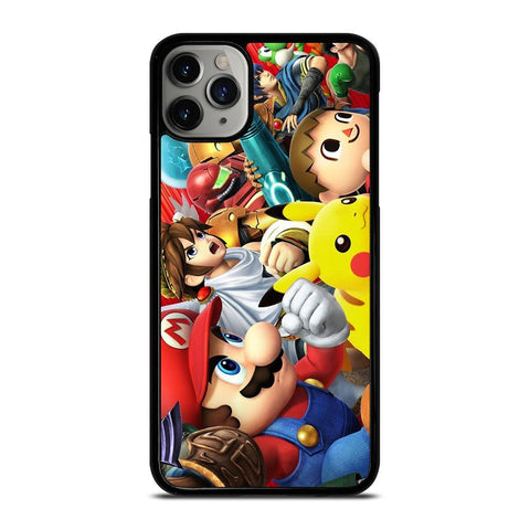 SUPER SMASH BROSS ALL STAR-iphone-11-pro-max-case-cover