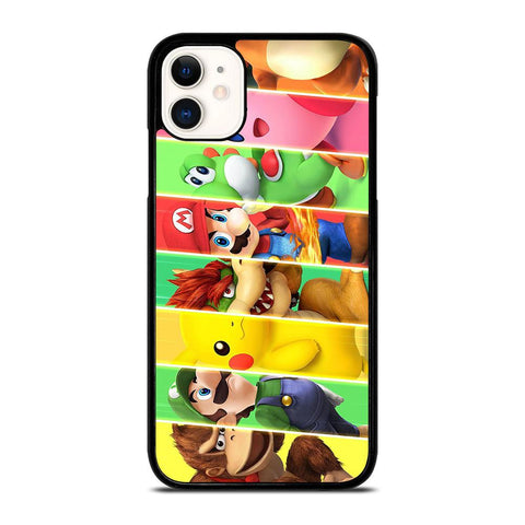 SUPER SMASH BROSS CHARACTERS-iphone-11-case-cover