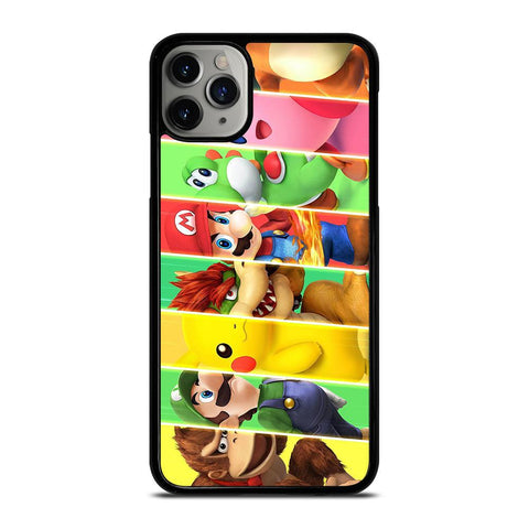SUPER SMASH BROSS CHARACTERS-iphone-11-pro-max-case-cover