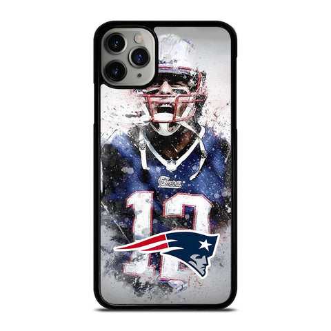 TOM BRADY NEW ENGLAND PATRIOT ART-iphone-11-pro-max-case-cover